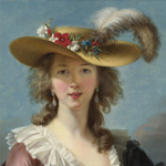 Detail from Vigée Le Brun self-portrait, Gallery Art Tour
