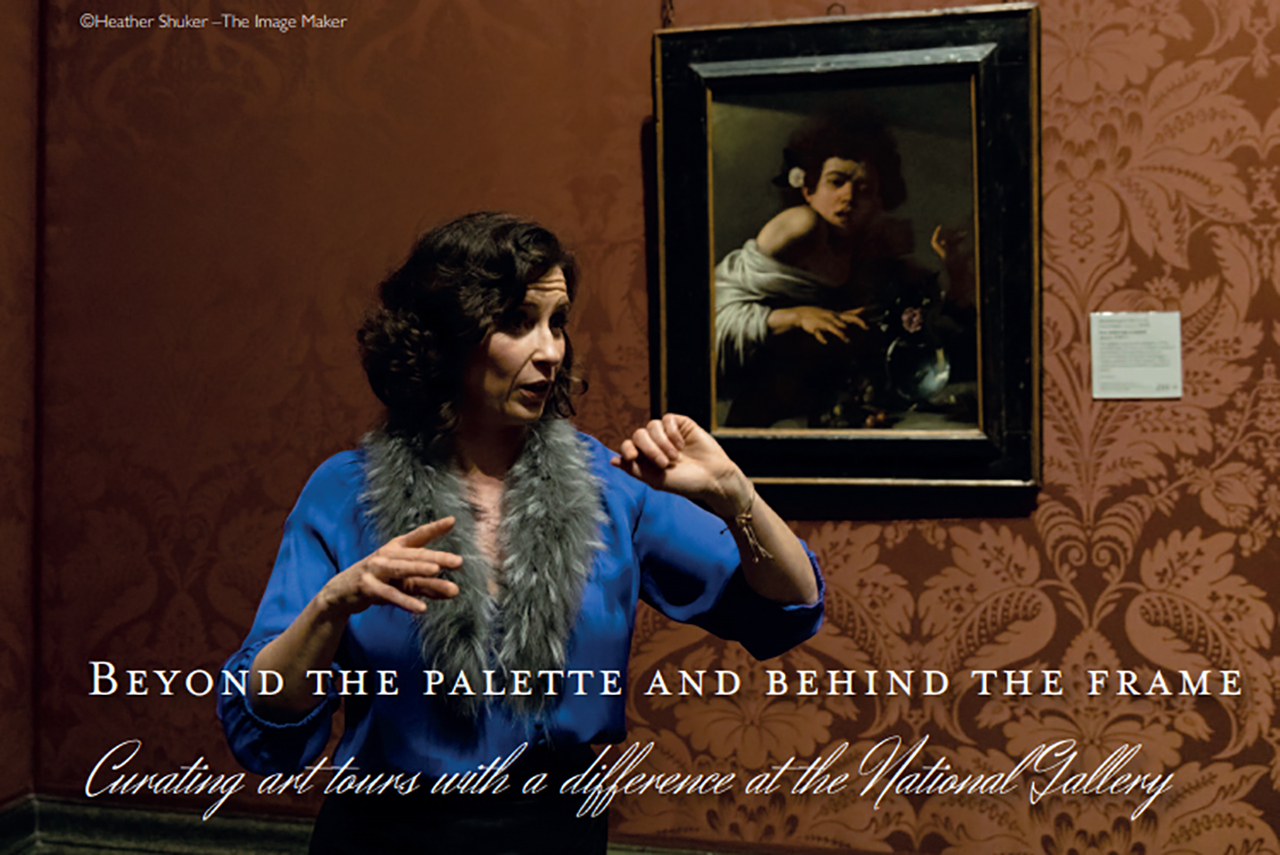 art historian explaining Caravaggio in National Gallery