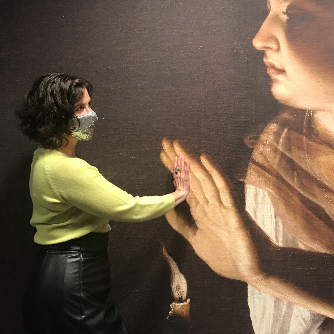 art historian showing reverence to Artemisia Gentileschi