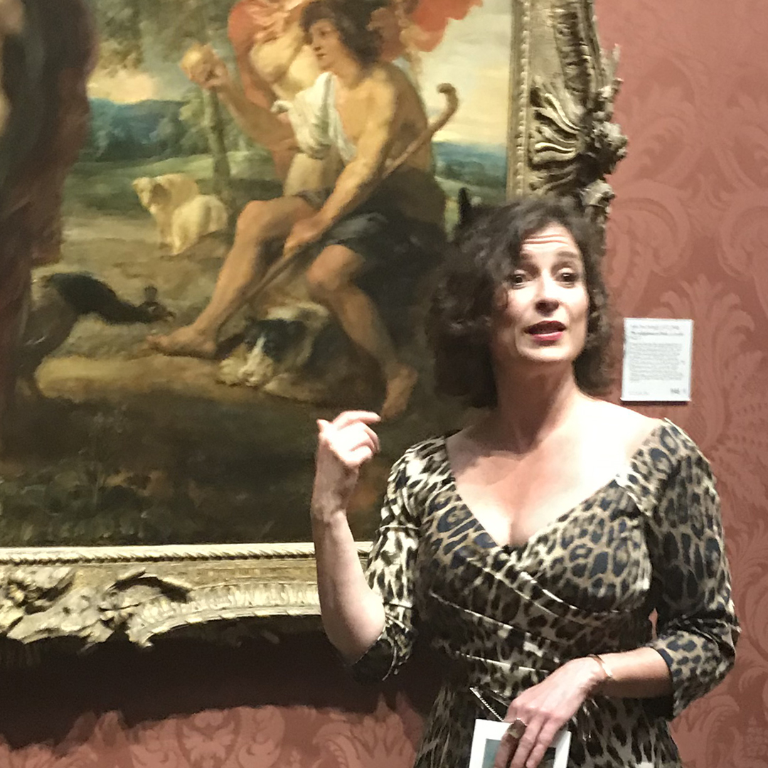 art historian explaining painting in National Gallery