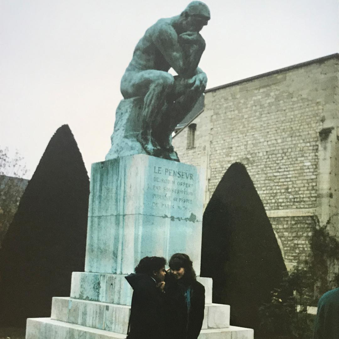 Rodin's The Thinker, Paris 1991
