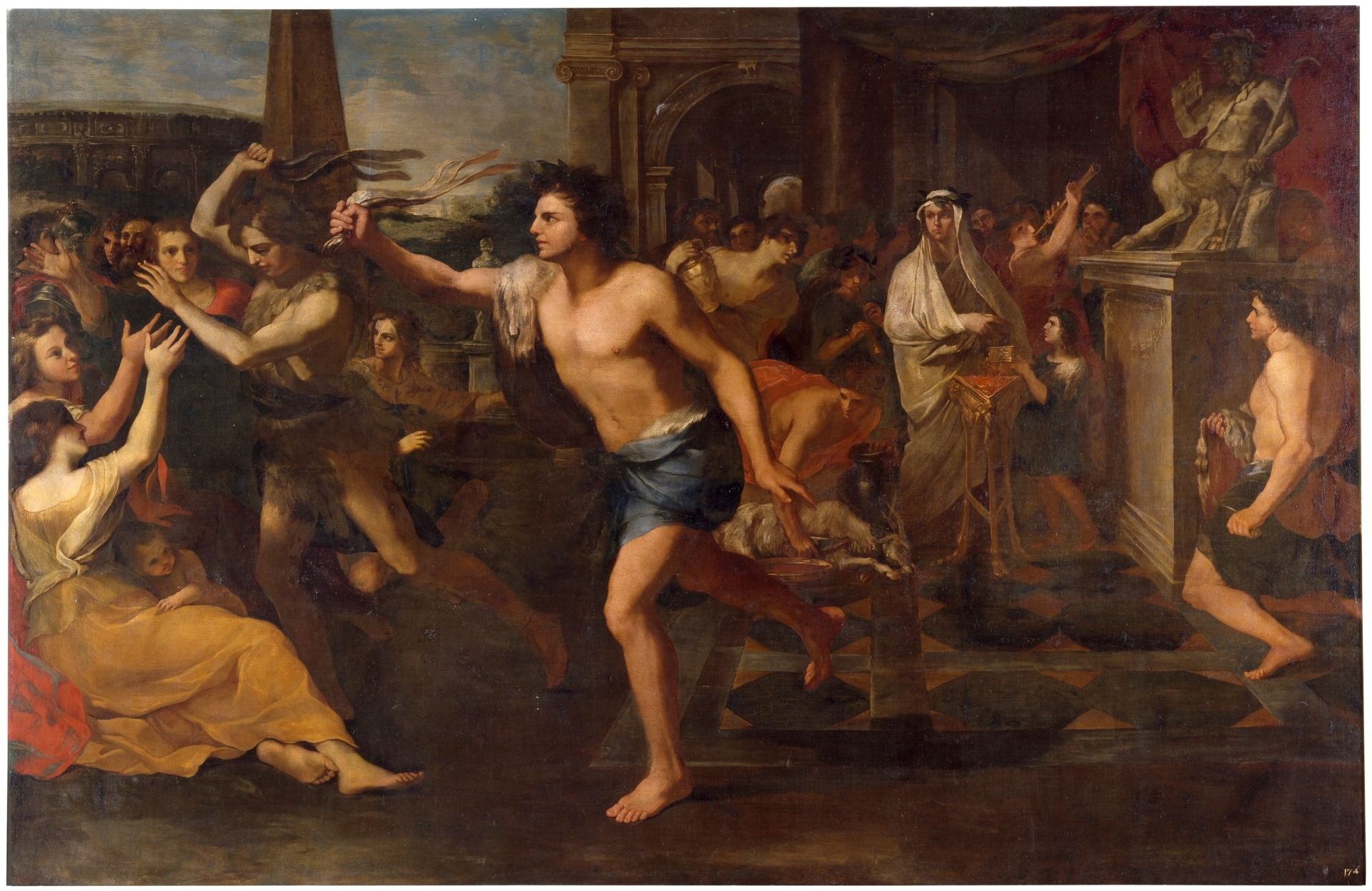 Youths whipping women for the ancient festival of Lupercalia
