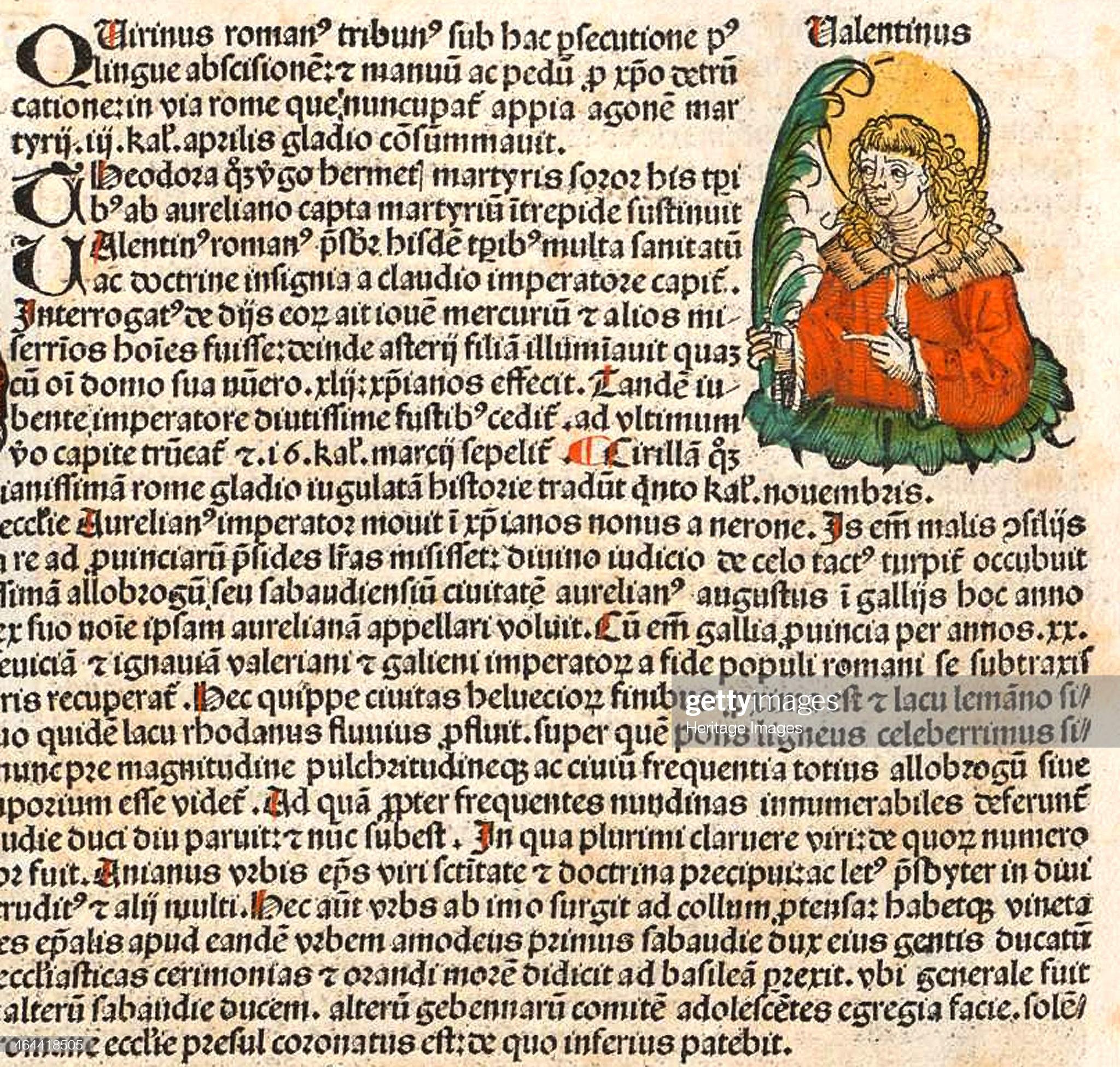 St Valentine the priest in Nuremberg Chronicle