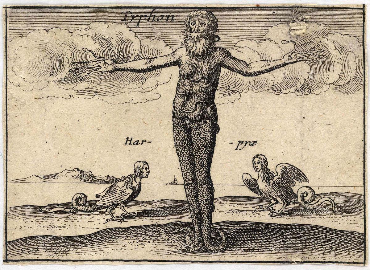 Typhon and harpies, Wenceslas Hollar