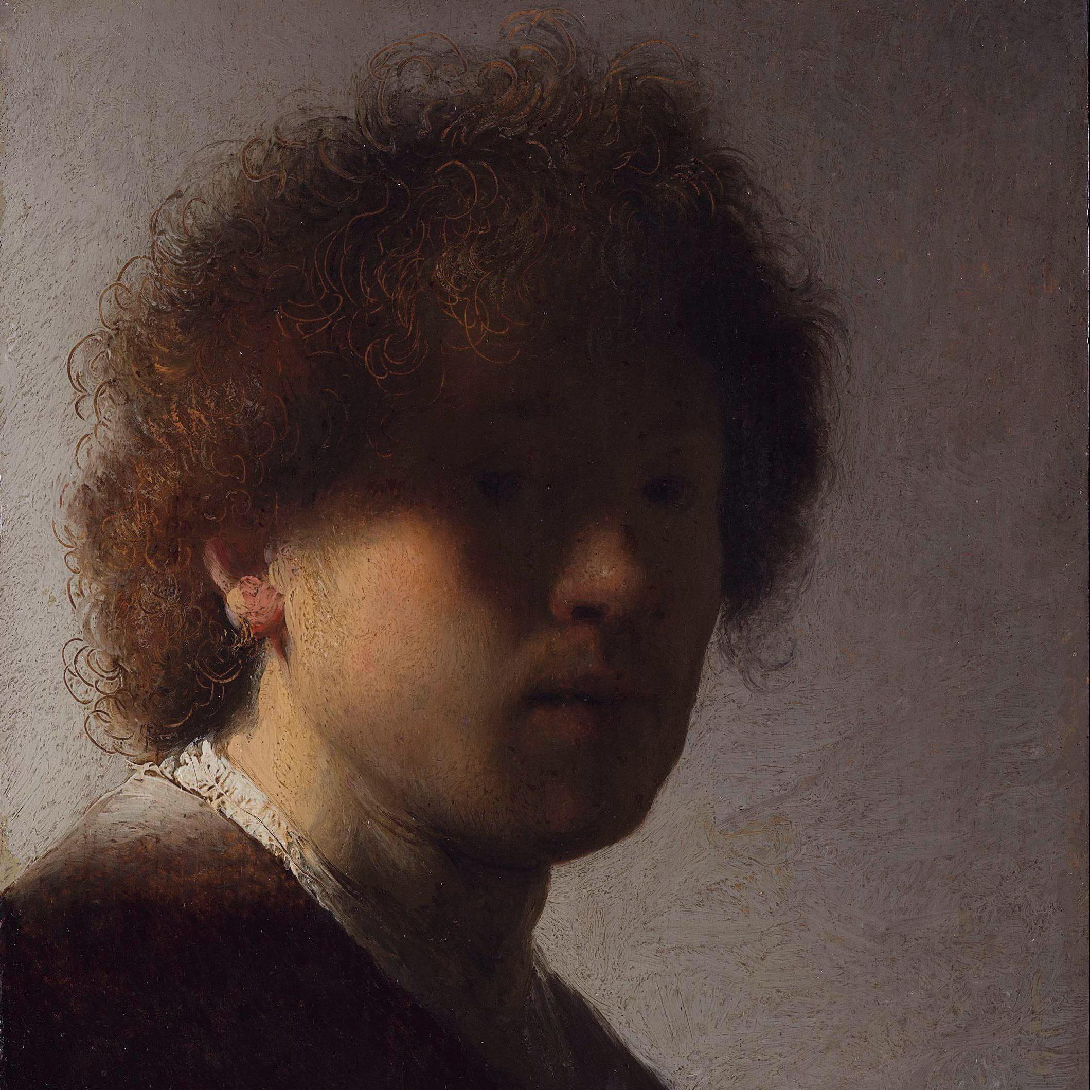 Rembrandt first self portrait