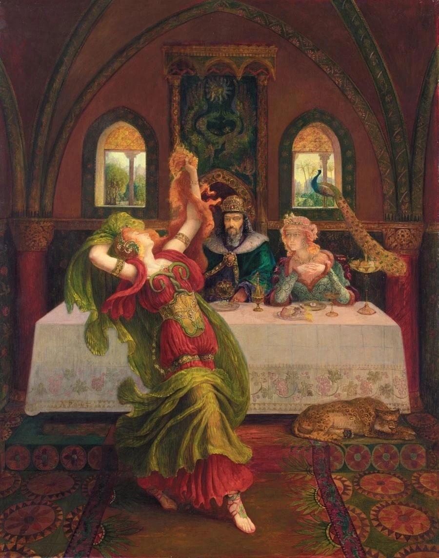 Salome dancing for Herod and Herodia