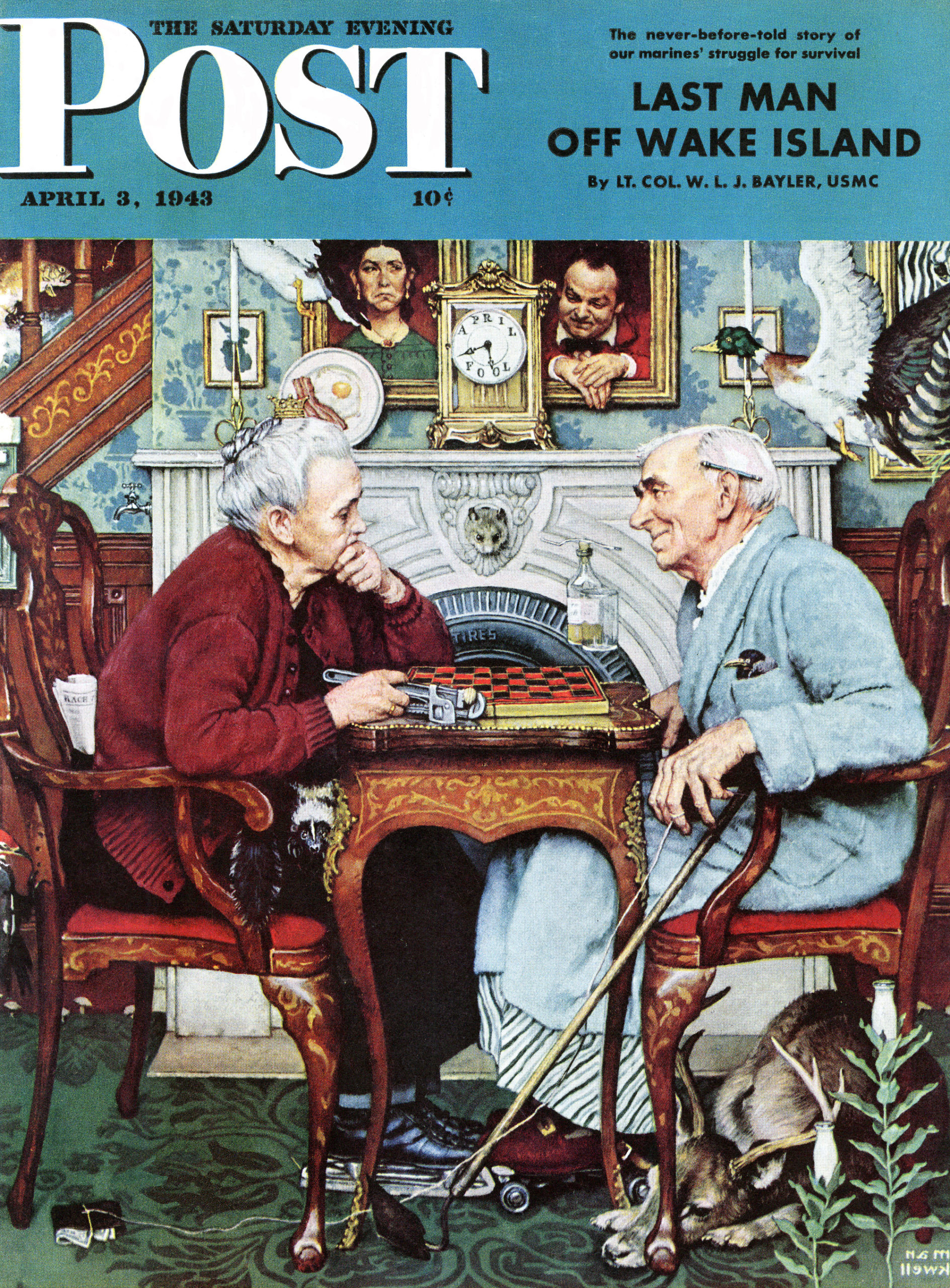 Norman Rockwell, April Fool: Checkers