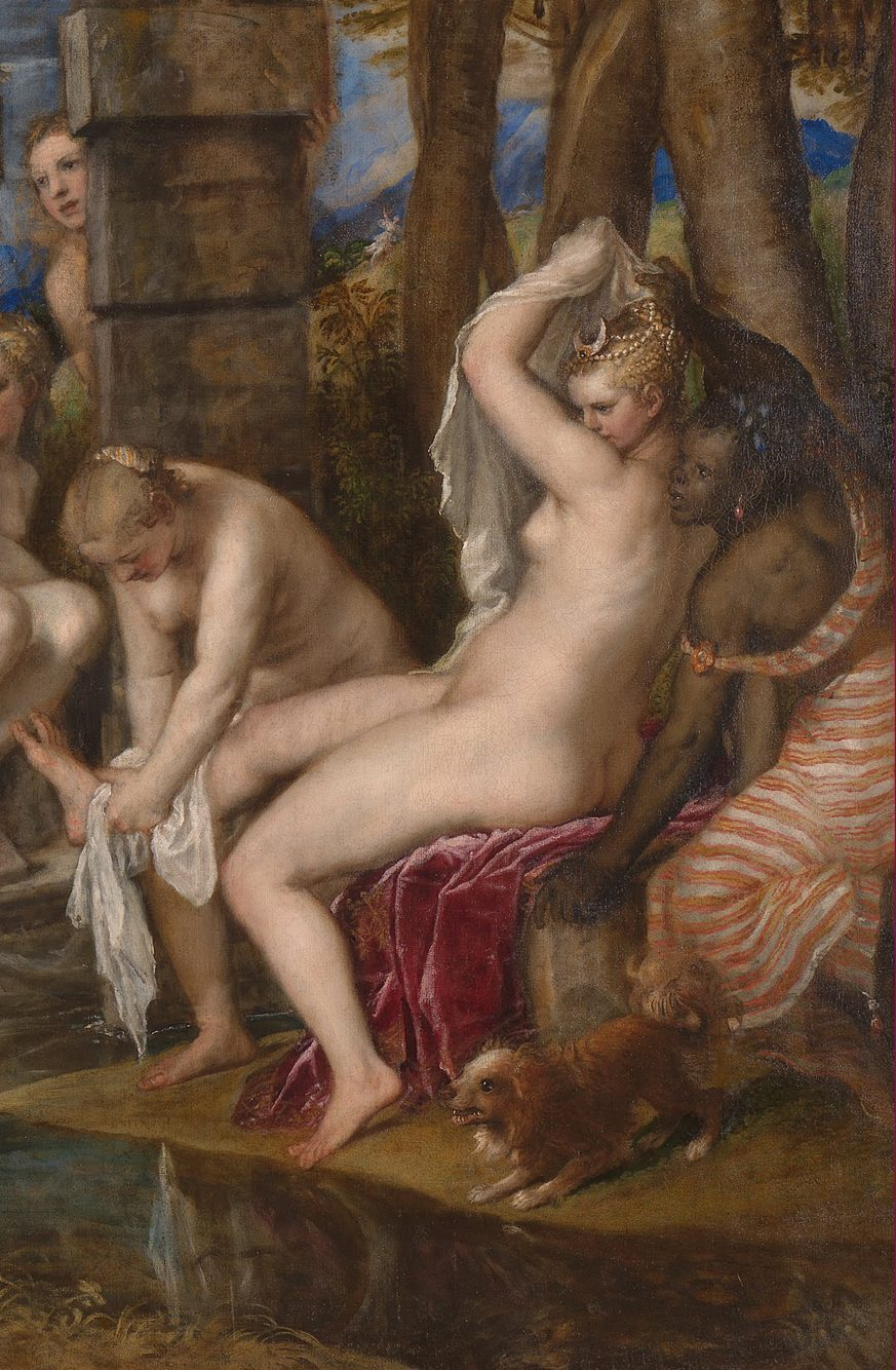 Detail from Titian Diana and Acteon, National Gallery