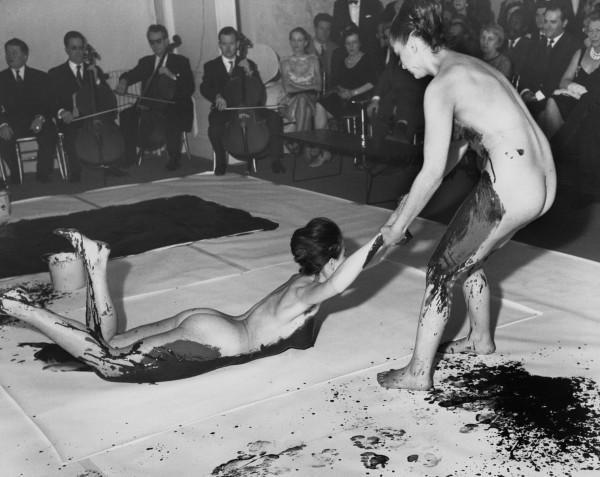 Yves Klein naked human paintbrush