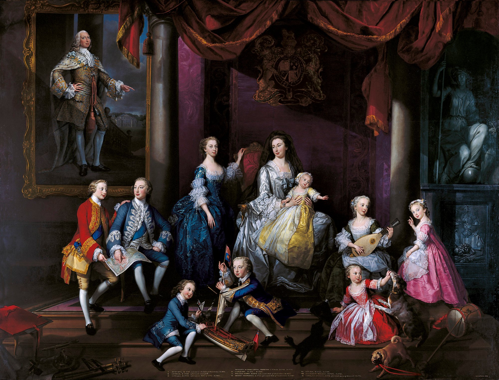 George Knapton, The Family of Frederick, Prince of Wales, 1751