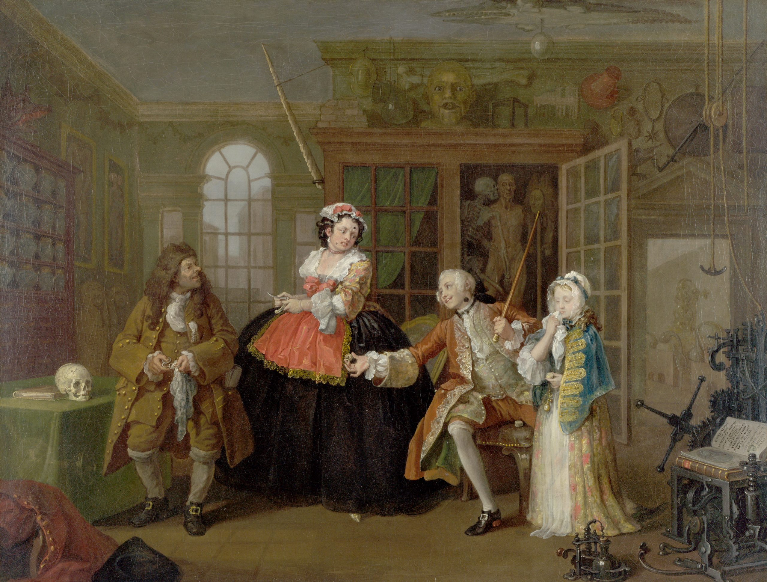 Marriage a la Mode, The Inspection, Hogarth