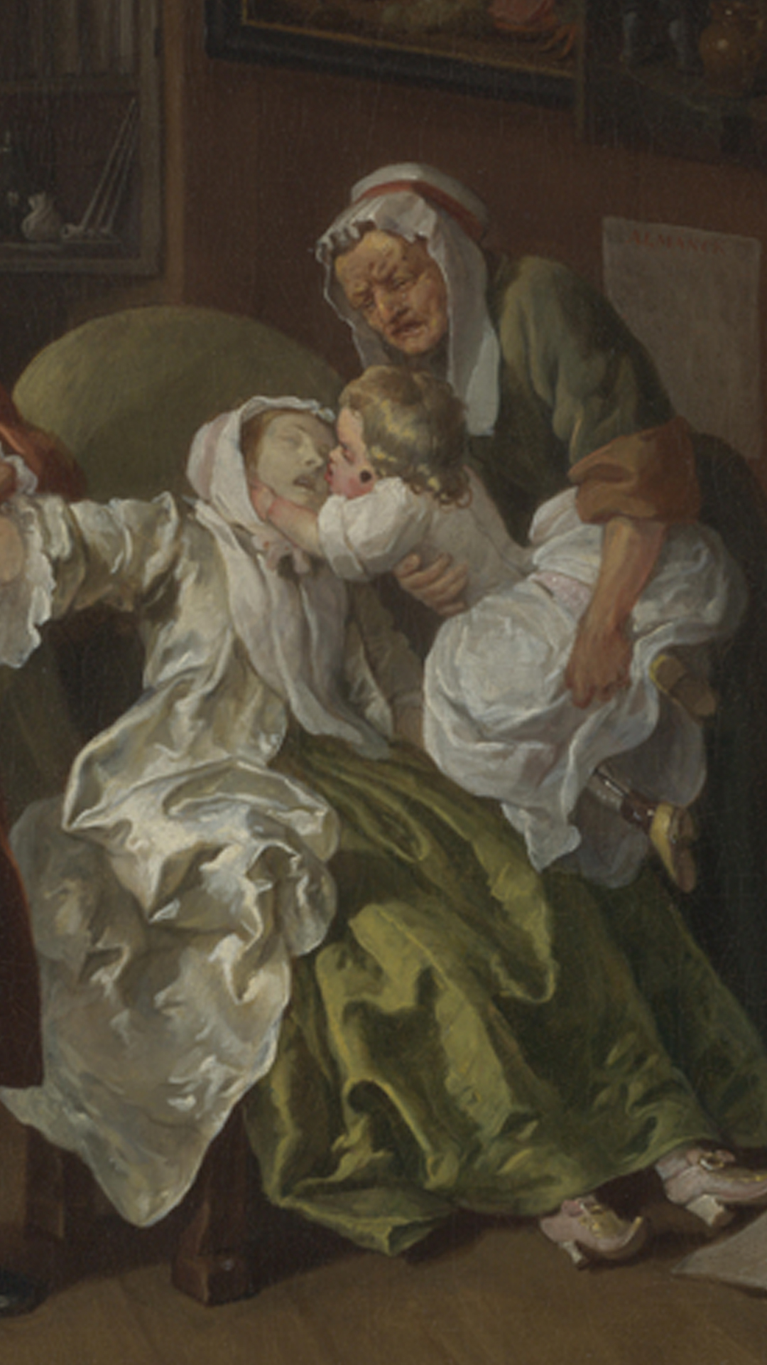 Hogarth Marriage a la Mode Death of Lady