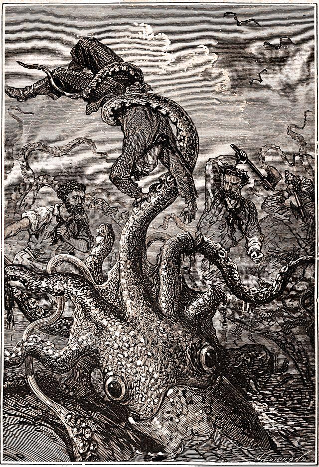Jules Verne giant squid