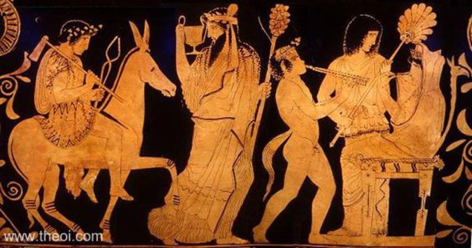 Hephaestus rides into Olympus to release Hera