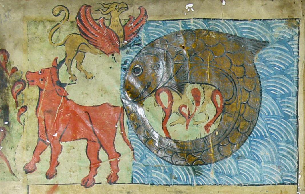 Behemoth, Leviathan, Ziz, Ambrosiana Bible