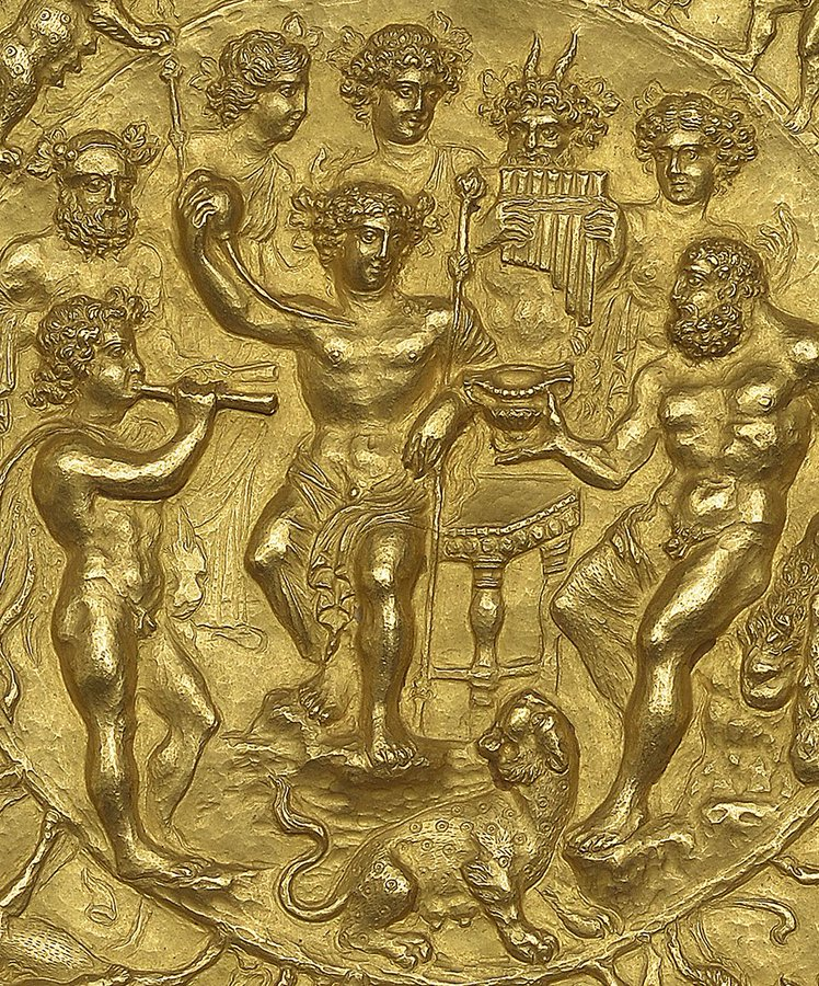 Rennes cup Bacchus and Hercules